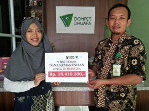 Penyerahan secara simbolis Dana Kemanusiaan Untuk Rohingya